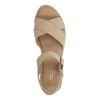 Sandales en daim avec semelle plateforme - beige