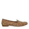 Loafers cuir imprimé léopard