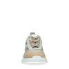 Baskets en daim avec détails métallisés - beige