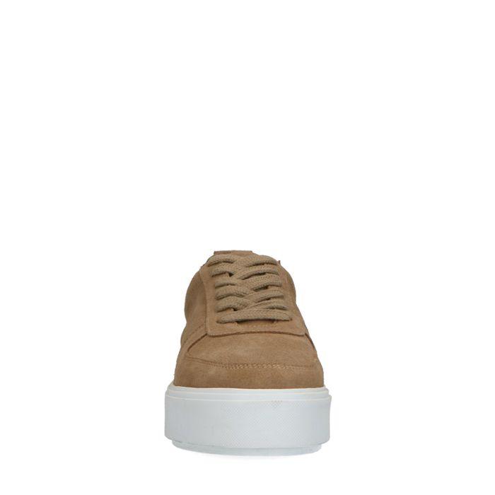 Baskets en daim - beige