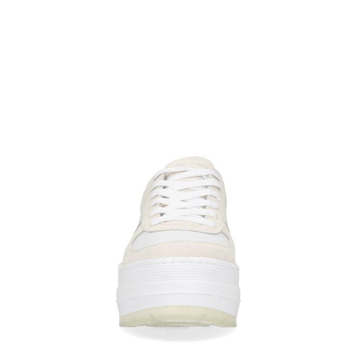 Baskets en daim à plateforme - blanc