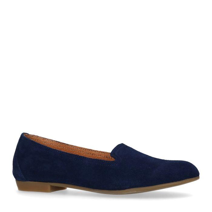 Loafers en daim - bleu foncé