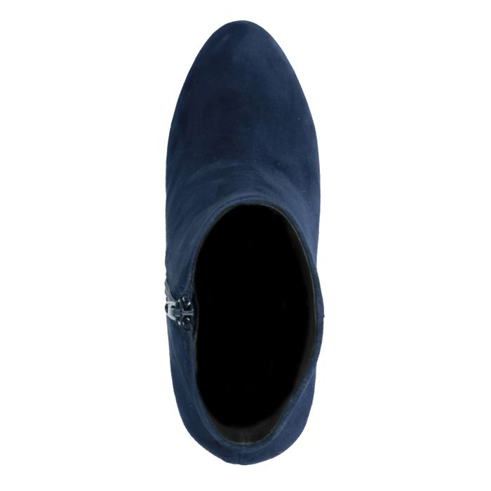 Bottines en daim avec talon - bleu
