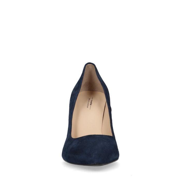 Escarpins en daim - bleu