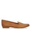 Loafers avec motif peau de serpent - cognac