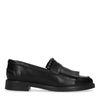 Loafers en cuir avec franges - noir