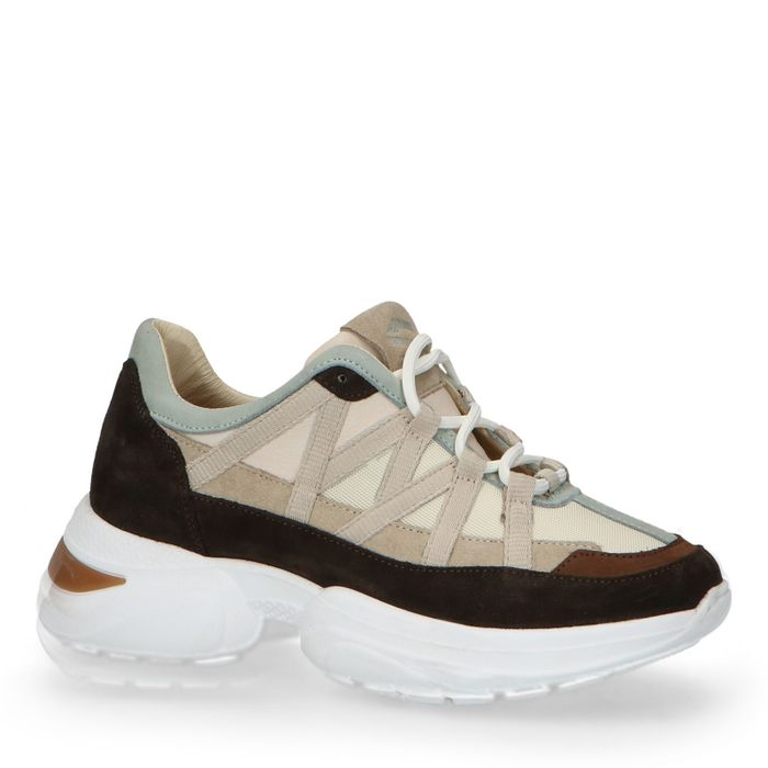 Dad shoes en daim avec détails - marron foncé