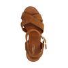 Sandales à talon en daim - marron