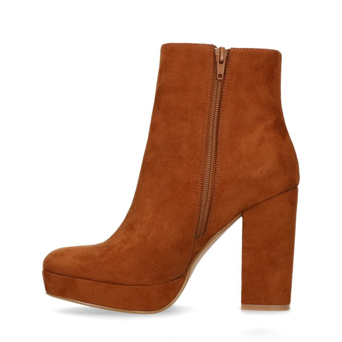 Bottines daim à talon - marron