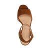 Sandales en daim avec talon cubain - marron