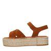 Sandales en daim avec semelle plateforme - marron