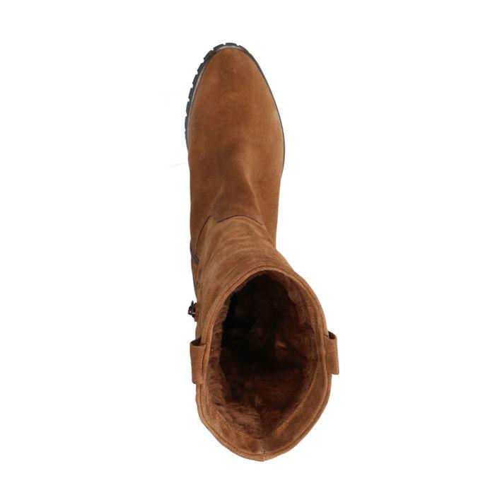 Bottes courtes en daim - marron