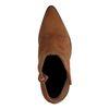 Bottines en daim avec talon aiguille - marron