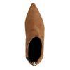 Bottines en daim avec kitten heel - marron