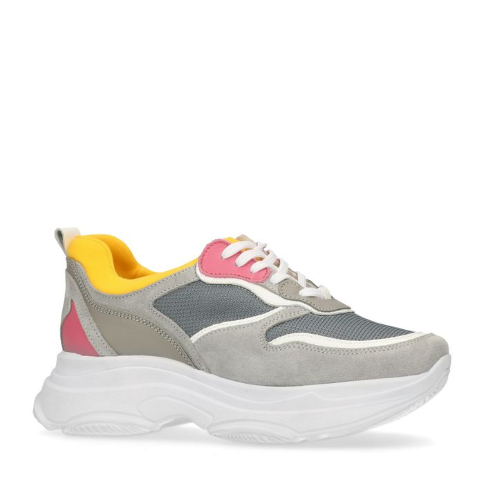 Dad shoes en daim - gris