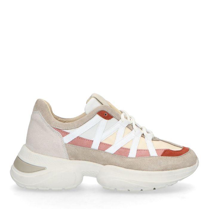 Dad shoes en daim avec détails - gris