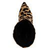Bottes courtes à talon avec imprimé léopard