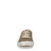 Baskets basses en daim avec imprimé léopard et étoile