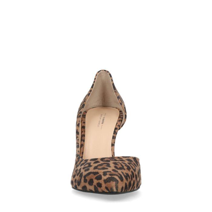 Escarpins en daim avec imprimé léopard