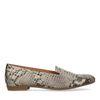 Loafers en cuir avec imprimé serpent