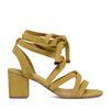 Sandales en daim à talon - jaune