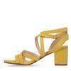 Sandales en daim avec talon bas - jaune