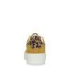 Baskets à plateforme en daim avec imprimé léopard - jaune
