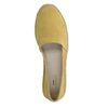 Espadrilles en daim à plateforme - jaune