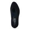 Escarpins en daim avec bout ouvert - noir