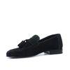 Loafers avec pompons - noir