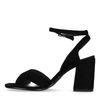 Sandales en daim à talon - noir