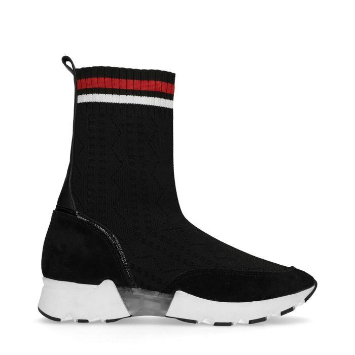 Baskets-chaussettes montantes - noir