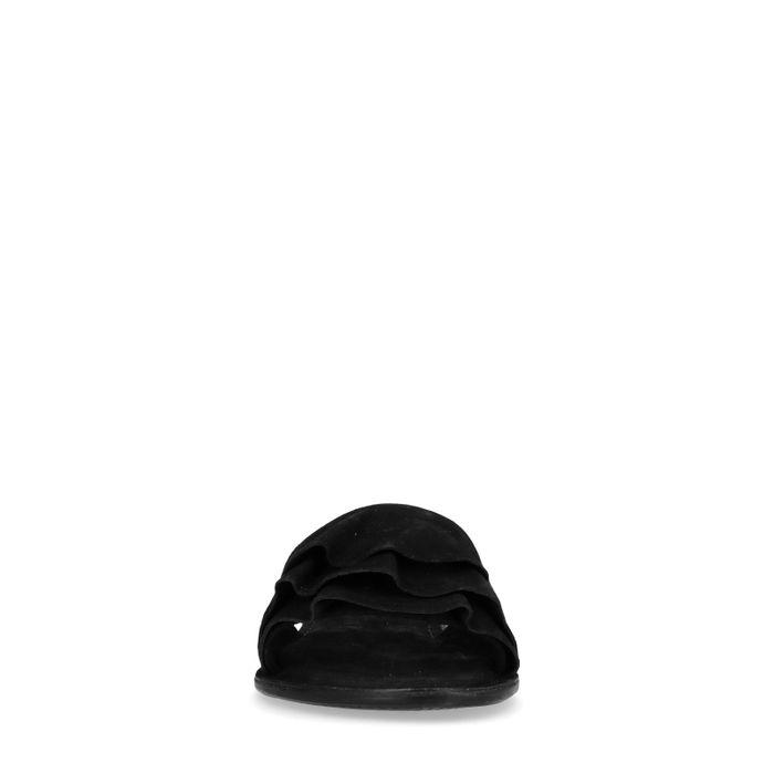 Claquettes en daim - noir