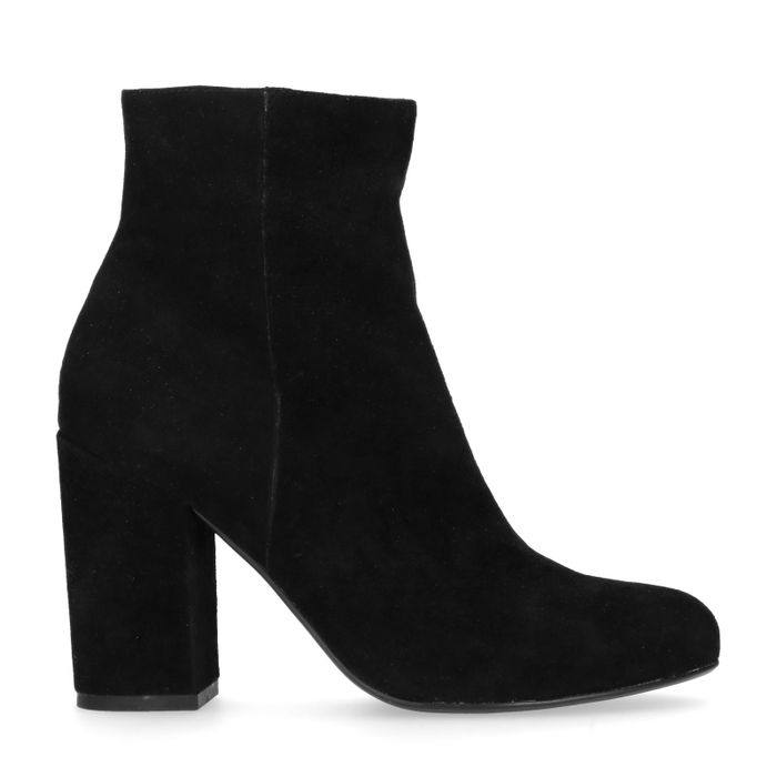 Bottines en daim à talon - noir