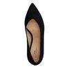 Escarpins en daim avec talon bas et bout pointu - noir