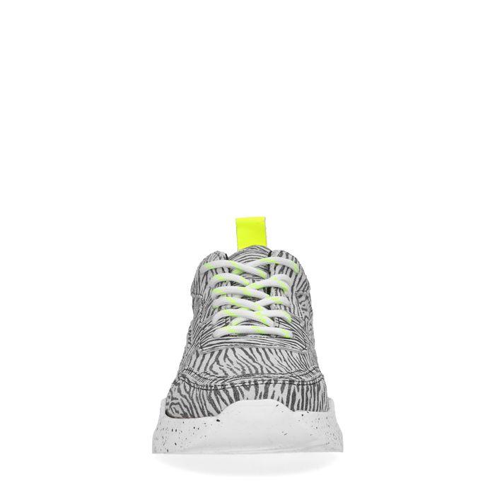 Dad shoes en daim avec imprimé zèbre