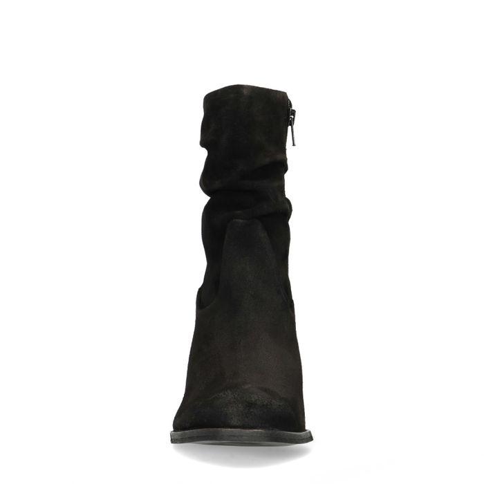 Bottines en daim avec talon - noir