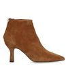 Bottines en daim avec kitten heel - marron
