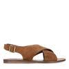 Sandales en daim - marron