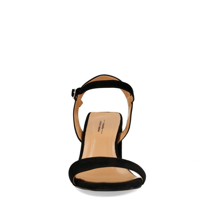 Sandales daim à talon - noir