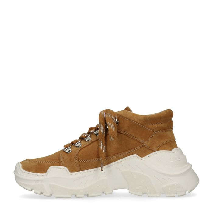 Dad shoes en daim - ocre