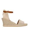 Sandales à talon compensé - beige