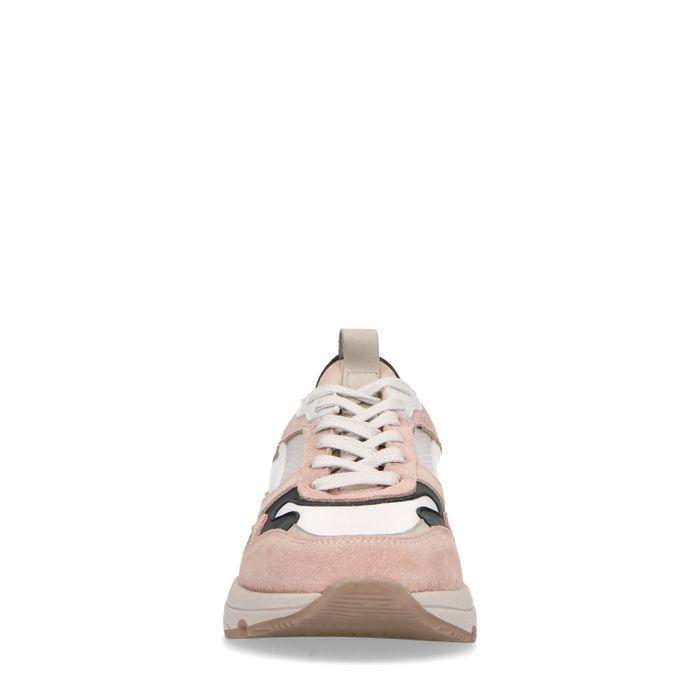 Baskets en daim avec détails - rose pâle