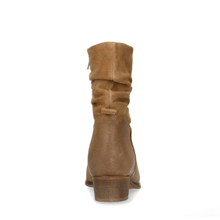 Bottines en daim - taupe