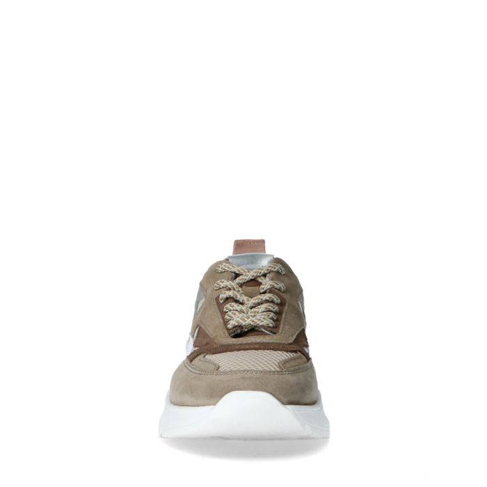 Dad shoes en daim - taupe