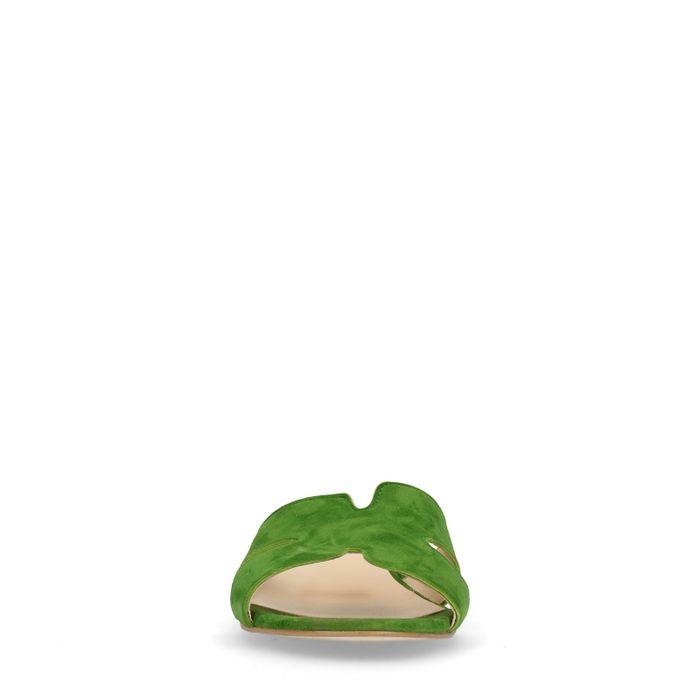 Claquettes en daim - vert