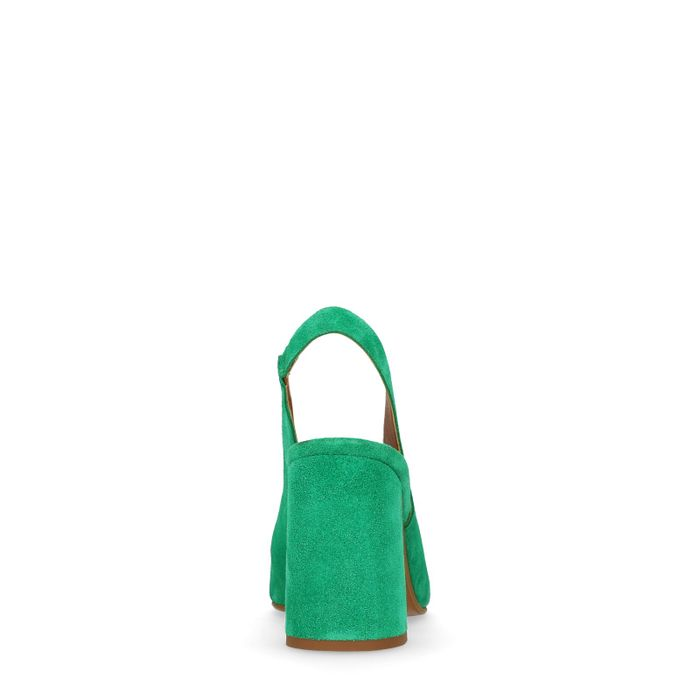 Escarpins slingback en daim - vert