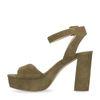 Sandales à talon cubain - vert