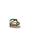 Sandales en daim tressées - vert