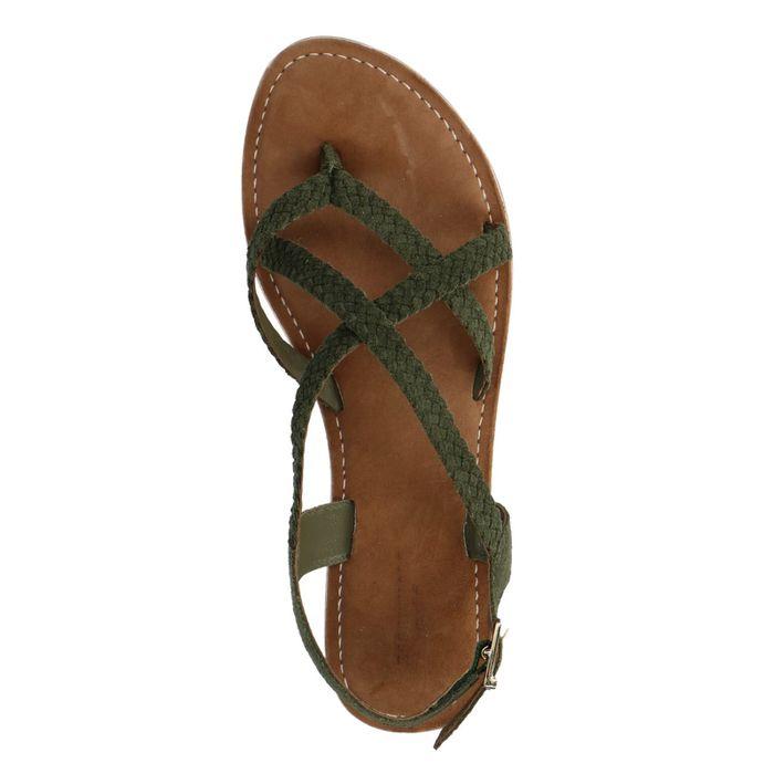 Sandales tressées - vert